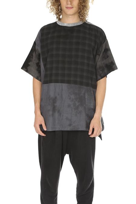 Long Journey Patchwork T-Shirt - Charcoal