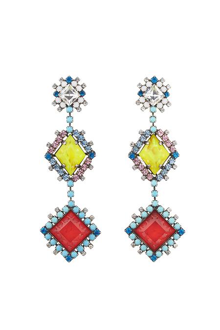 Dannijo Esposa Earrings - Multi/Ox Silver