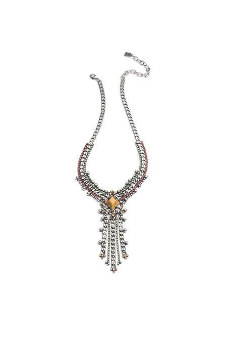 Dannijo Nadeen Necklace - Multi/Ox Silver