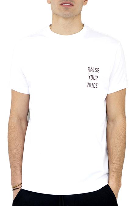 DIPLOMACY Raise Your Voice T-Shirt - White