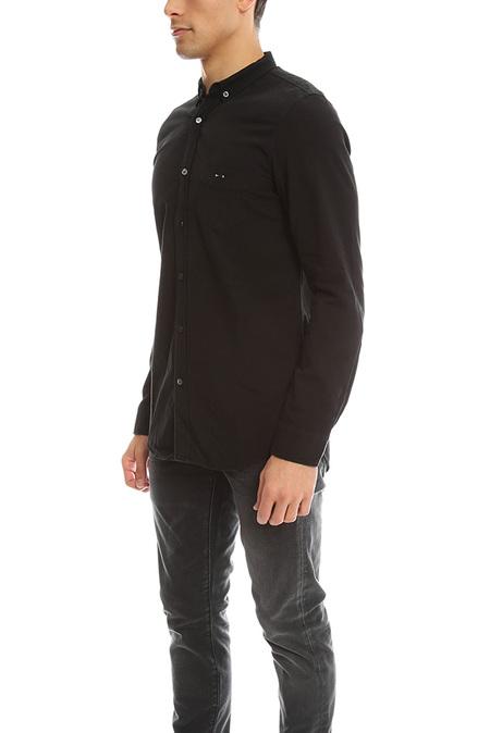 R13 Barbell Chambray Shirt - Black
