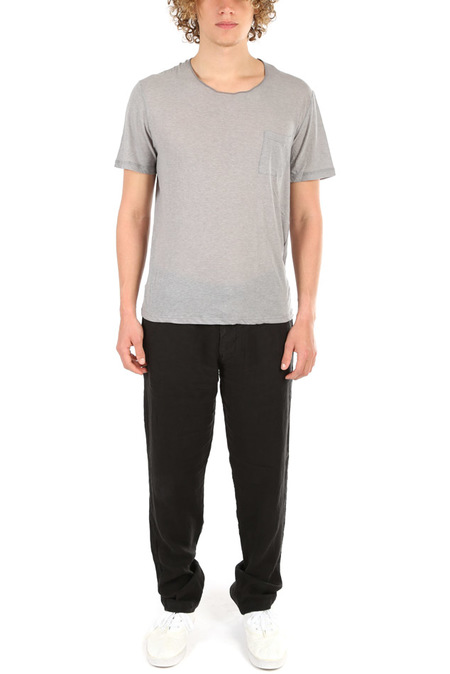 Stone Island Linen Pants - Black