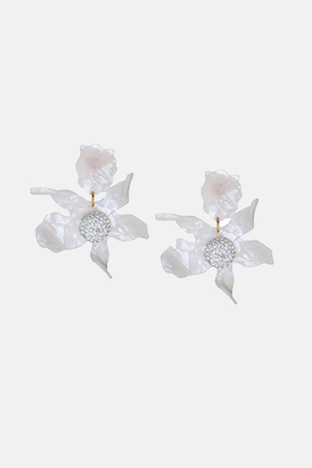 Lele Sadoughi Crystal Lily Earrings - Mother Of Pearl