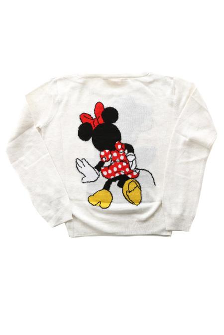 Kids Little Eleven Paris Cinnie Minnie Knit Sweater - Light Grey
