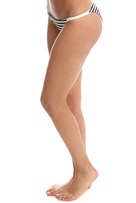 Solid & Striped Morgan Bikini Bottom Swimwear - Black/White