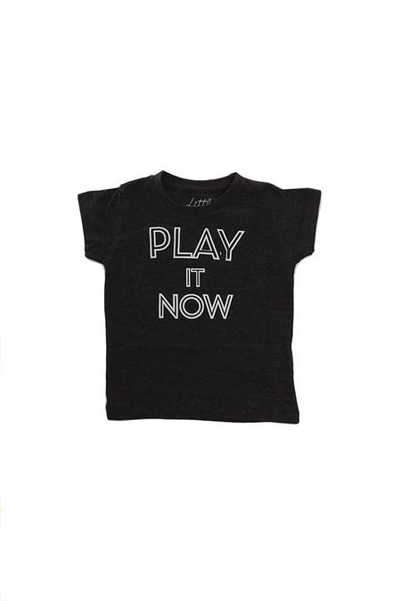 Kids Little Eleven Paris Quotes SS T-Shirt - Blue Multi