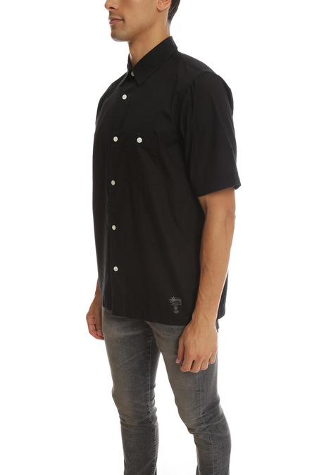 Stussy Shortsleeve Button Down - Black