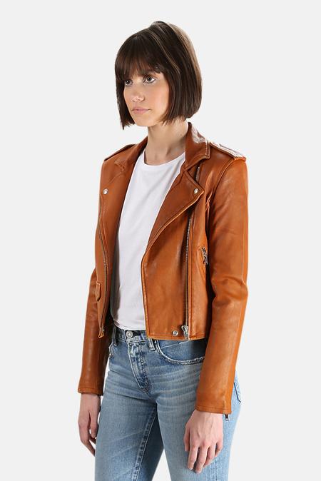 IRO Ashville Leather Jacket - Camel