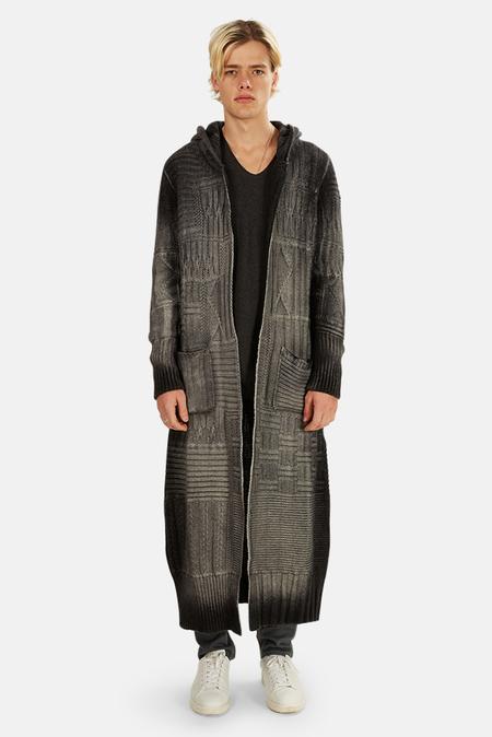 Avant Toi Knitted Long Zip Hoodie Sweater - Husky