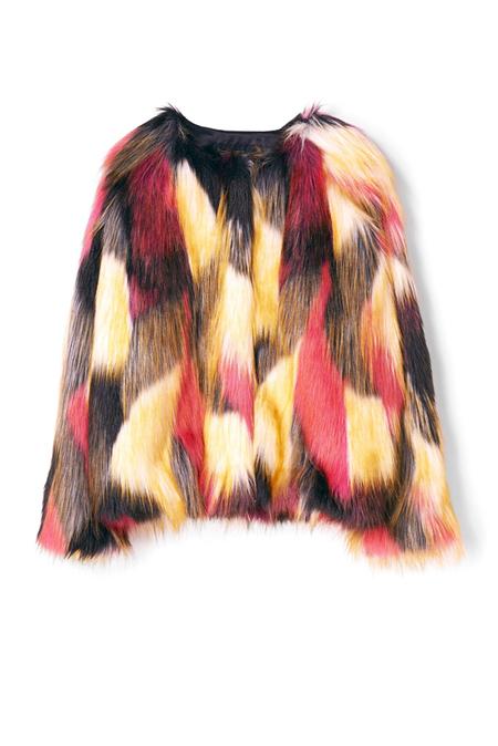 kids Finger in the Nose Debbie Faux Fur Jacket - multicolor