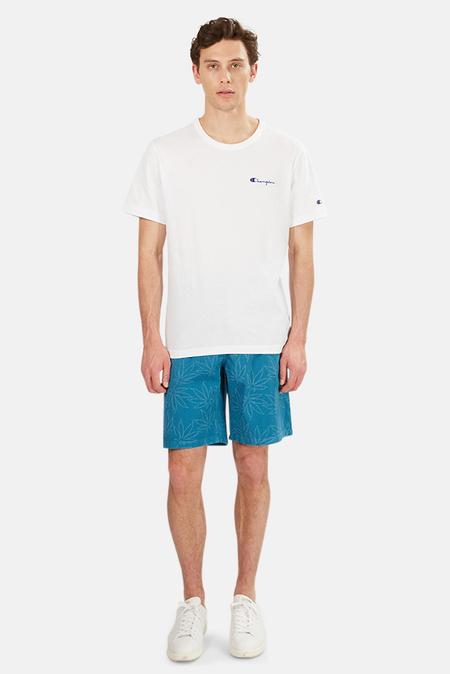 Lucien Pellat-Finet Bermuda Laser Leaf Shorts - Blue