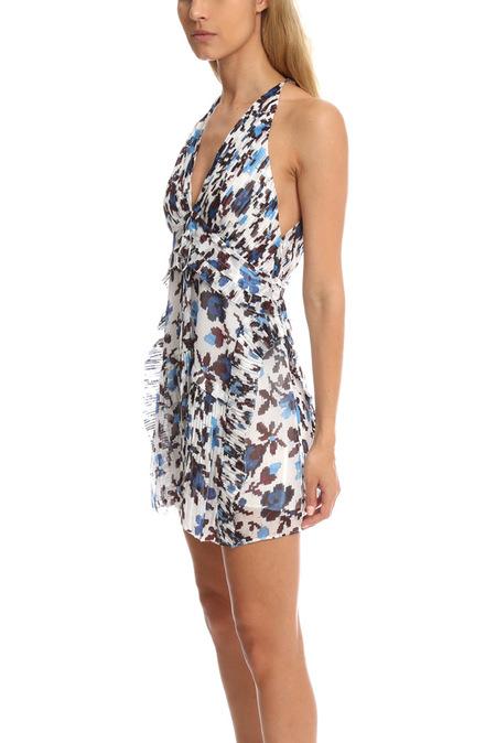 Thakoon Mini Halter Dress - Blue/White