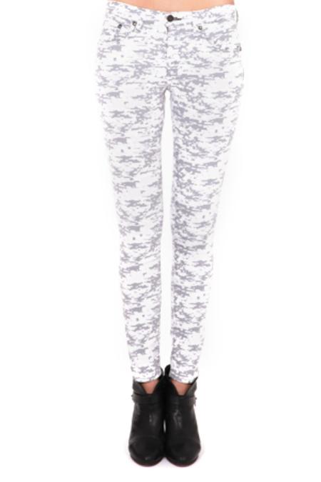Rag & Bone Skinny Jeans - Grey Camo