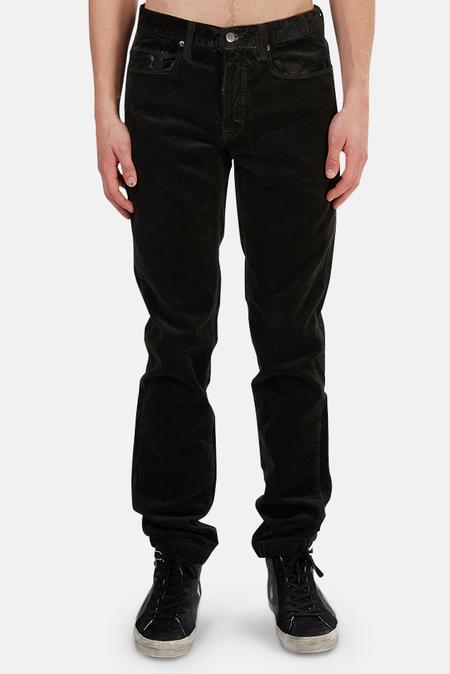 massimo alba Alunga Velvet Pants - Black