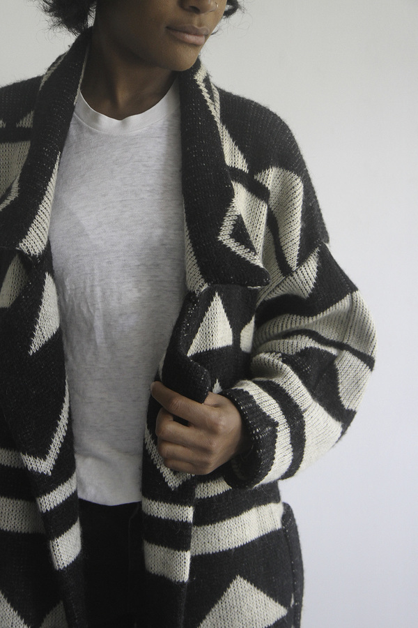 The Shudio Vintage Oversized Geometric Sweater