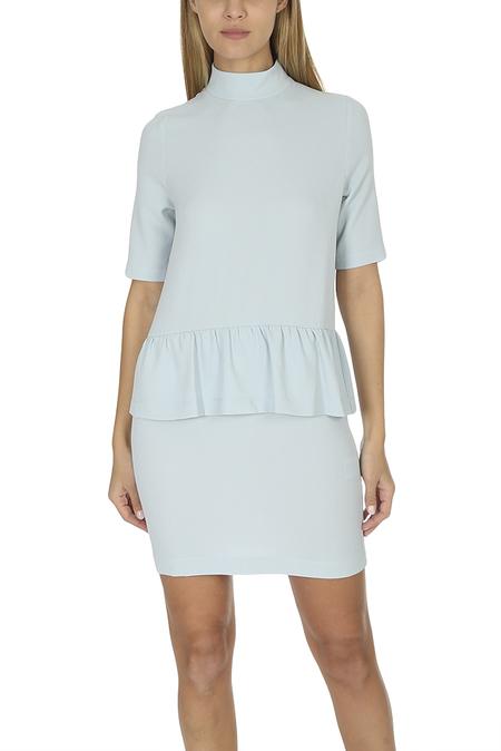 Ganni Clark Dress - Sterling Blue