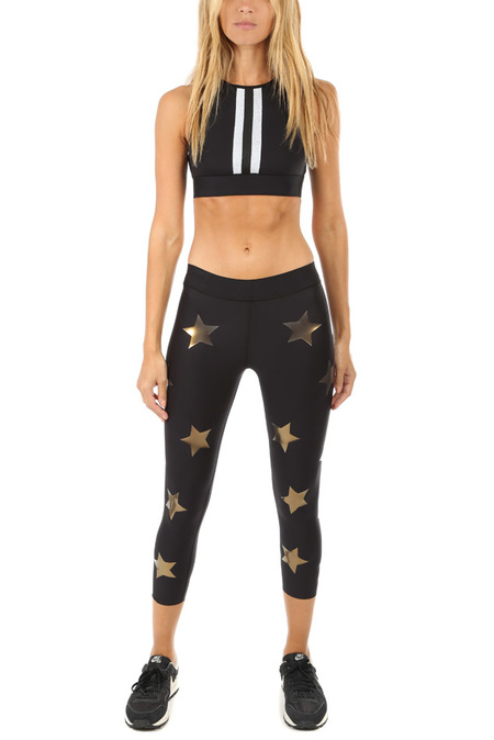 Ultracor Lux Knockout Print Legging - Nero/Iridescent Gold