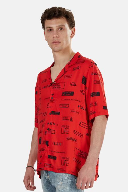 Ksubi You Have Been Warned Resort Shirt - Nitro Red