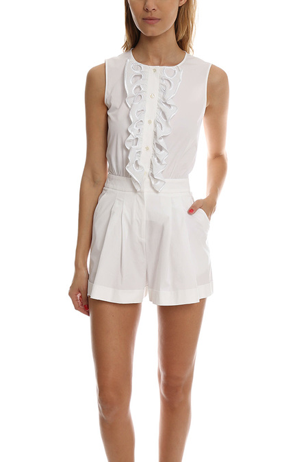 Boutique Moschino Pleated Romper - White
