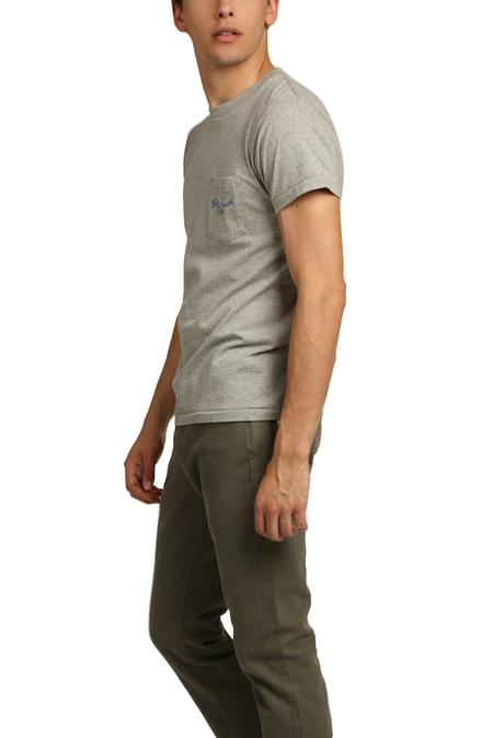 Velva Sheen x Blue&Cream 11937 Pocket T-Shirt - Heather Grey