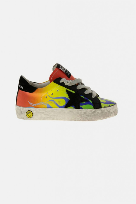Kids Golden Goose Toddler Superstar Sneaker Shoes - Venice Beach/Black Star