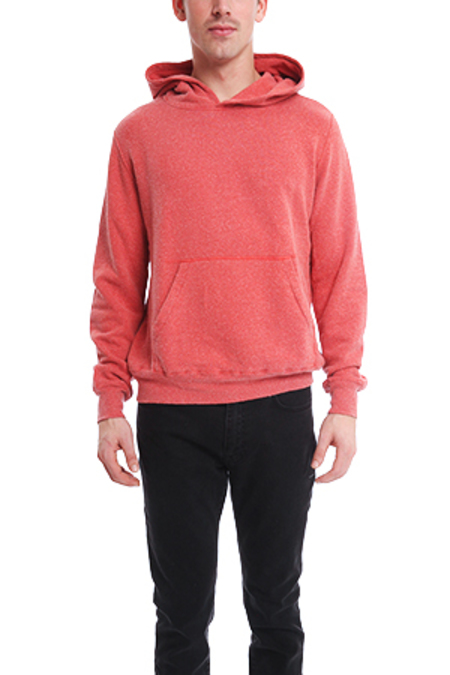 Remi Relief Silk Nep Pullover Hoodie Sweater - Red