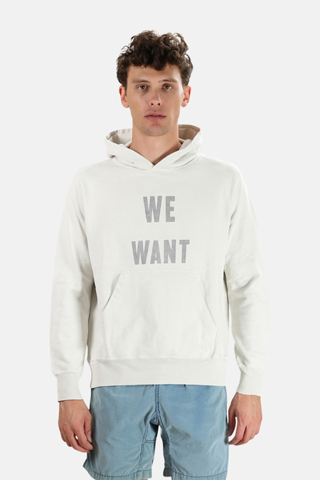 Remi Relief We Want Pullover Hoodie Sweater - Off White