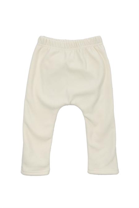 Kids Unisex Mini Bear Pants - Ivory