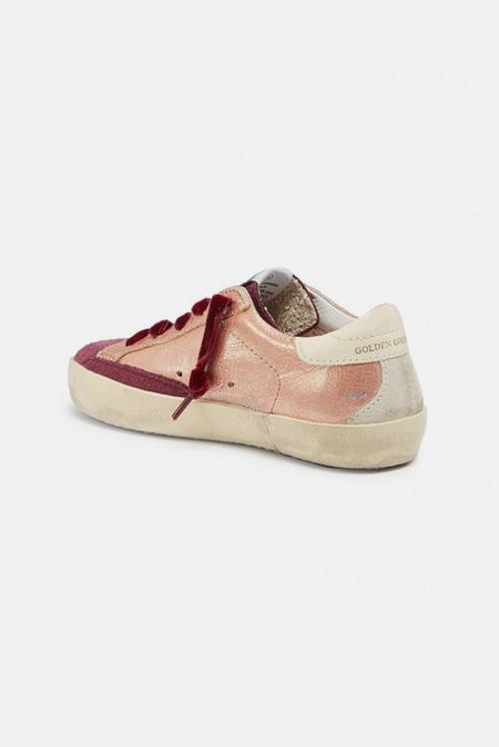 kids Golden Goose Superstar Sneaker Shoes - Powder Leather/Cream Star