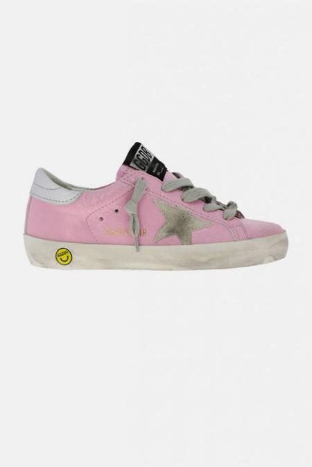 Kids Golden Goose Superstar Sneaker Shoes - Pink Wall/Ice Star