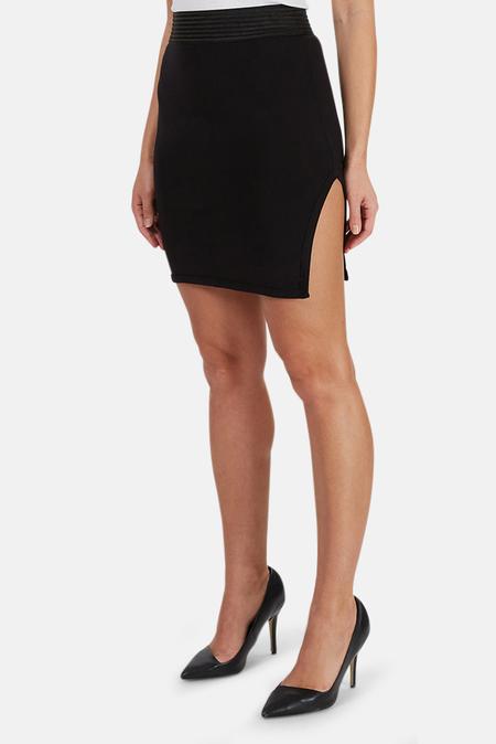 Alexander Wang Modal Side Slit Skirt - Black