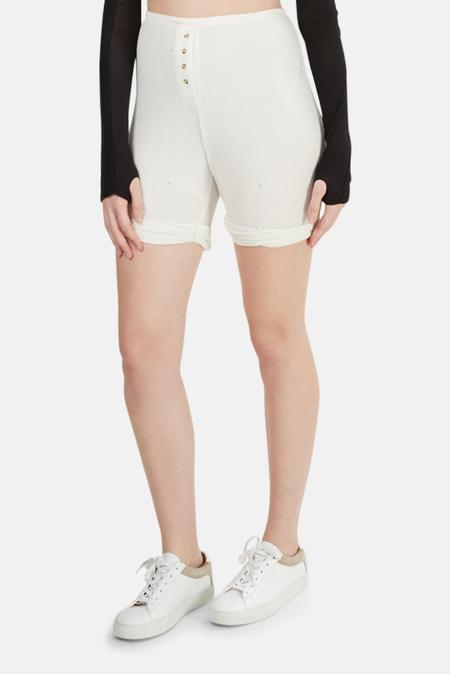 Alexander Wang Thermal Shorts - White