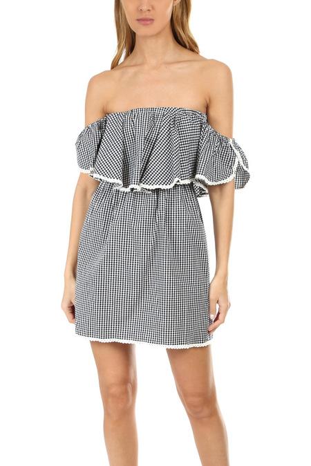 MISA Los Angeles Belu Dress - Gingham