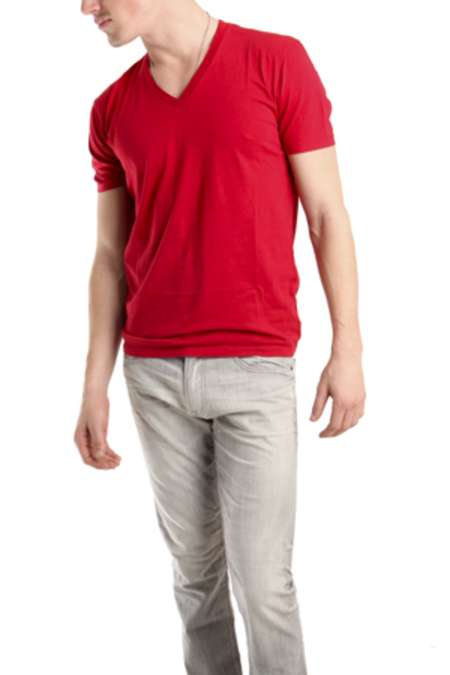 Spurr by Simon Spurr V Neck Classic T-Shirt - Red
