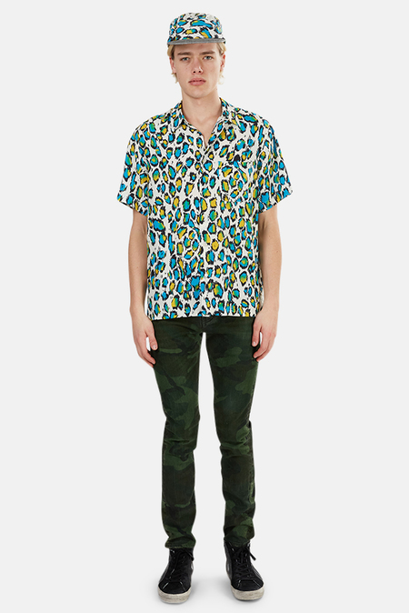 R13 Tony Shirt - Multicolor Leopard