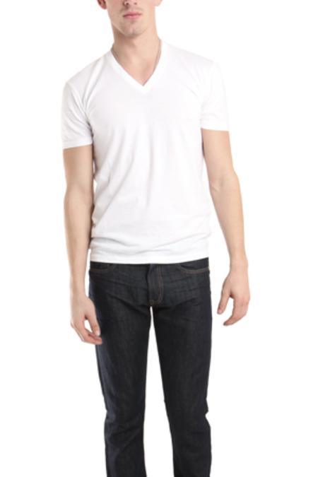 Spurr by Simon Spurr V Neck Classic T-Shirt - White
