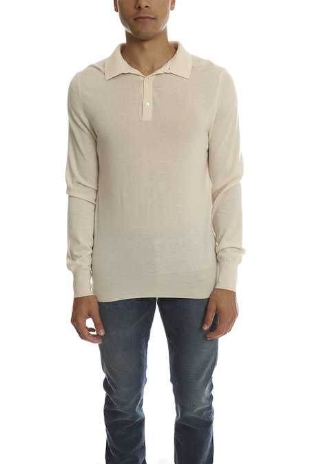 Simon Spurr Cashmere Rugby Top - White