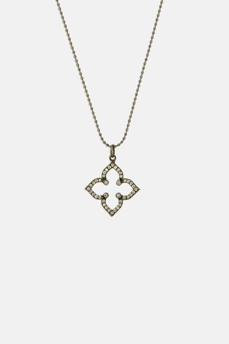 Sydney Evan Moroccan Flower Necklace - 14k gold/pave diamond