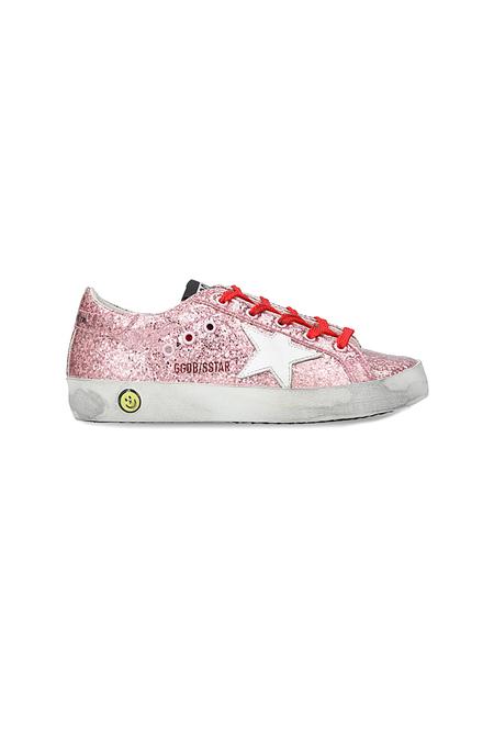 Kids Golden Goose Superstar Sneaker Shoes - Pink Glitter