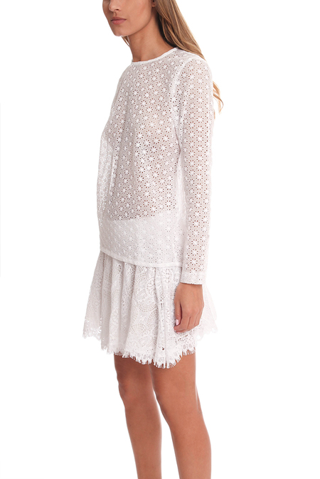Roseanna Maggie Chase Top - Blanc