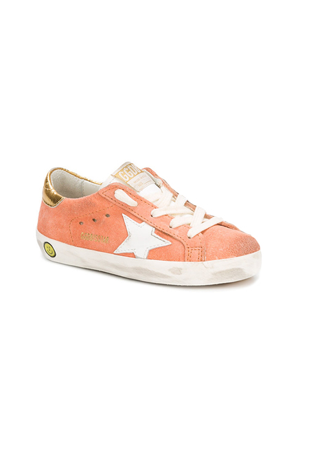 kids Golden Goose superstar Sneaker Shoes - Peach suede