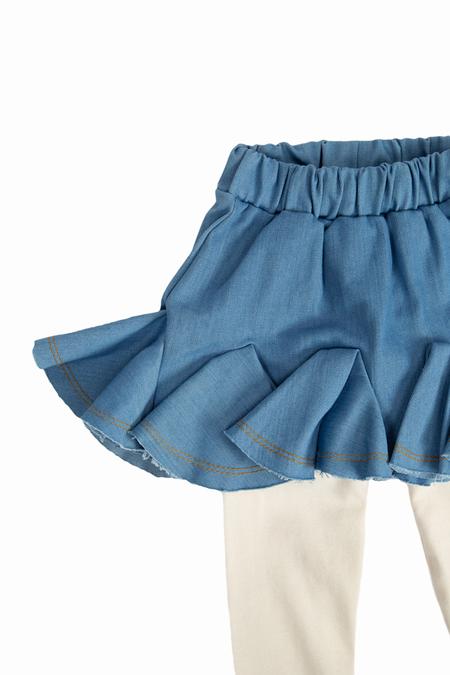 kids Hailey Legging Tutu skirt - Jean
