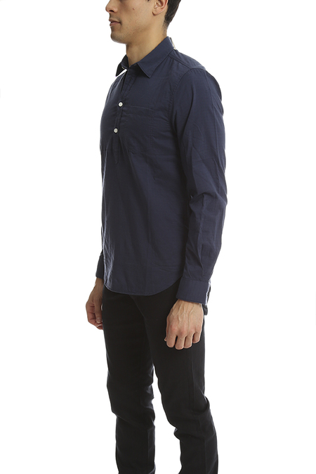 Norse Projects Osvald Double Layer Shirt - Navy