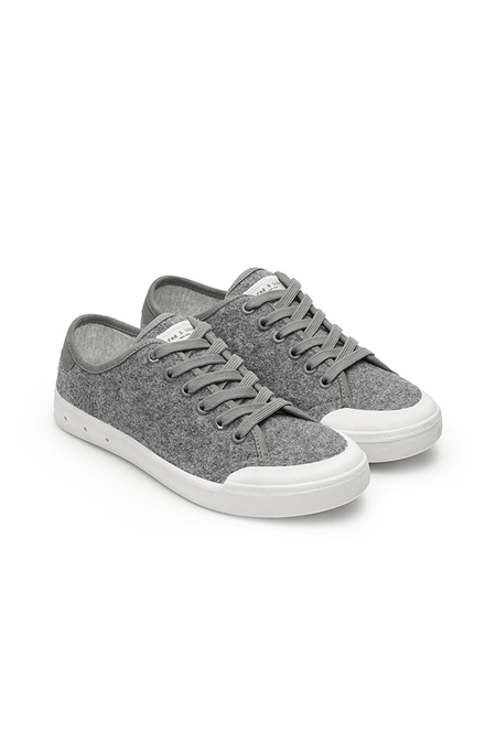 Rag & Bone Standard Issue Lace Up Shoes - Grey wool