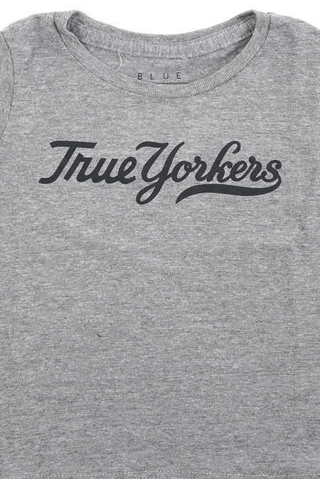 Kids Blue&Cream True Yorker T-Shirt - Grey