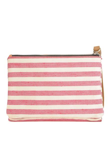 Rag & Bone Zip Envelope Wristlet Bag - Red