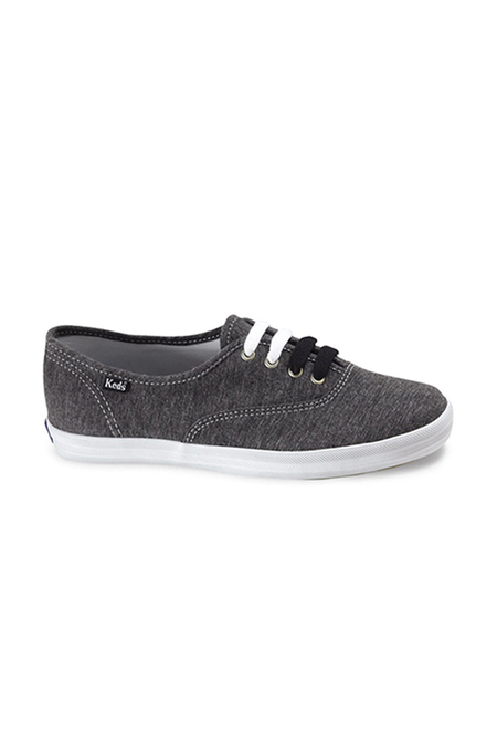 Keds Champion Jersey Sneaker Shoes - Charcoal/Black