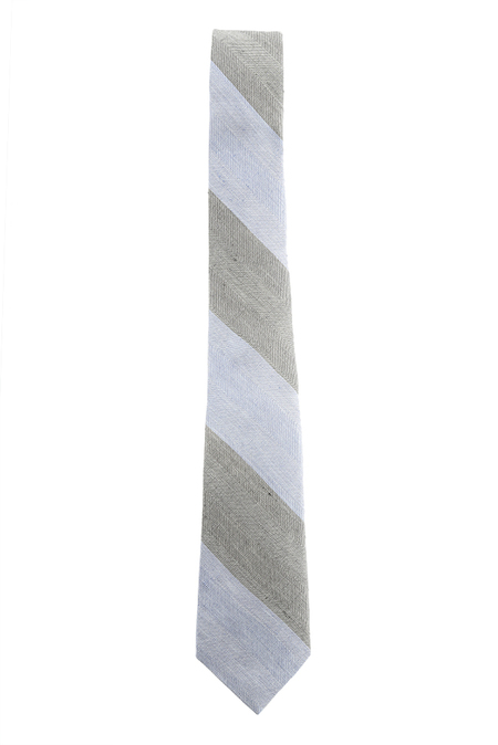 Rag & Bone Wide Stripe Tie - Black/Navy