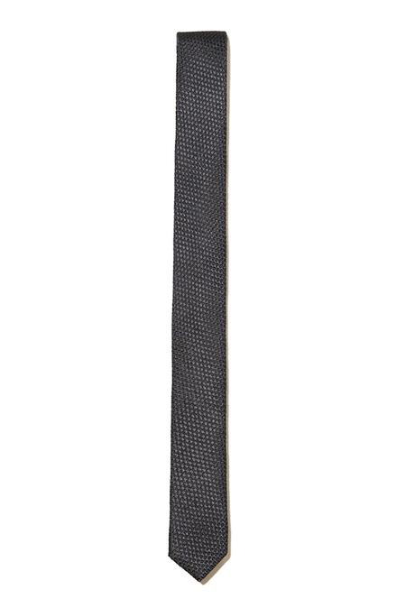 The Kooples Micro Check Tie - Navy