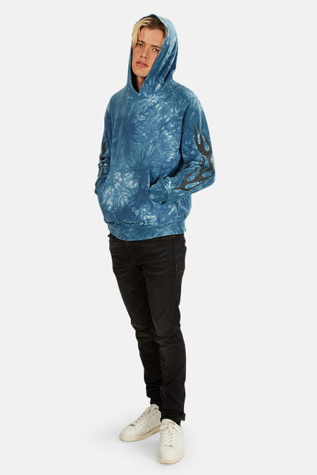 Remi Relief Tie Dye Hoodie Sweater - Indigo